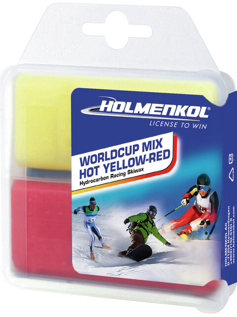 Holmenkol Worldcup Mix Hot Basis Wachs 2x35g yellow-red